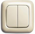 Настенный двухклавишный выключатель на батарейках Z-Wave.Me Wall Controller (слоновая кость)